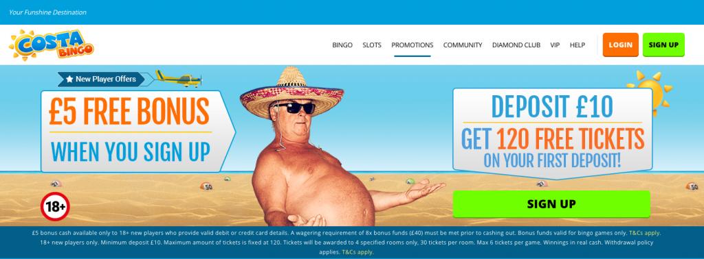 Costa Bingo Sign Up